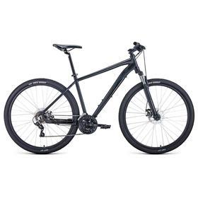 """Велосипед 29"""" Forward Apache 2.2 disc, 2021, цвет черный матовый/черный, размер 19"""""""