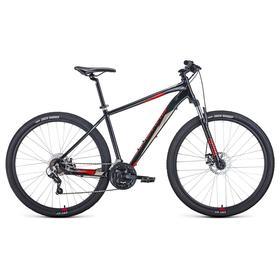 """Велосипед 29"""" Forward Apache 2.2 disc, 2021, цвет черный/красный, размер 17"""""""