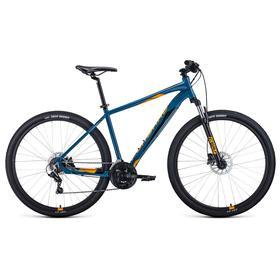 """Велосипед 29"""" Forward Apache 3.2 disc, 2021, цвет бирюзовый/оранжевый, размер 17"""""""