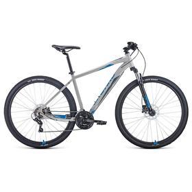 "Велосипед 29"" Forward Apache 3.2 disc, 2021, цвет серый/синий, размер 17"""