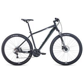 """Велосипед 29"""" Forward Apache 3.2 disc, 2021, цвет черный матовый/серебристый, размер 17"""""""