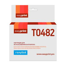 Картридж EasyPrint IE-T0482 (C13T04824010/T0482/ R200/R300/RX500/RX600) Epson, голубой Ош