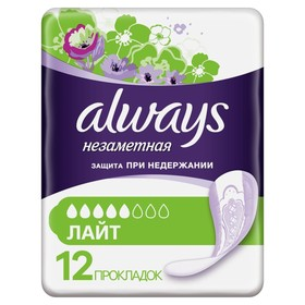 ALWAYS Absorbent sanitary and hygienic products for adults Invisible Light 12 Pads