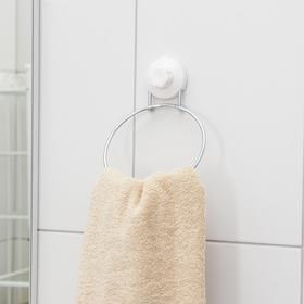 Держатель для полотенец одинарный, кольцо, на вакуумной присоске