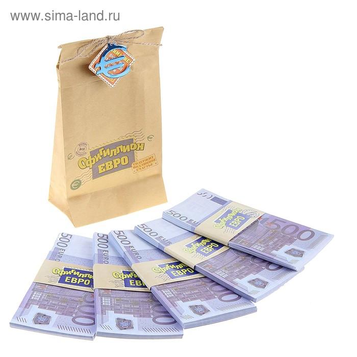 """Пачки купюр в мешке """"500 евро"""""""