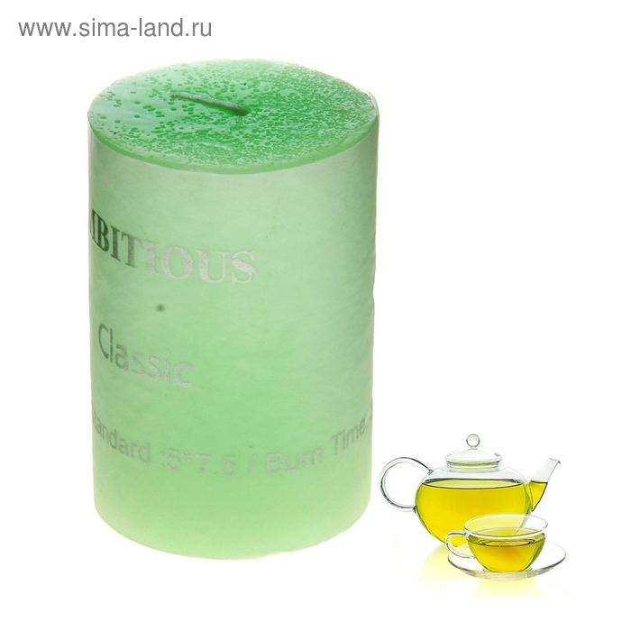"""Свеча """"Классика"""" средняя, аромат зеленый чай"""