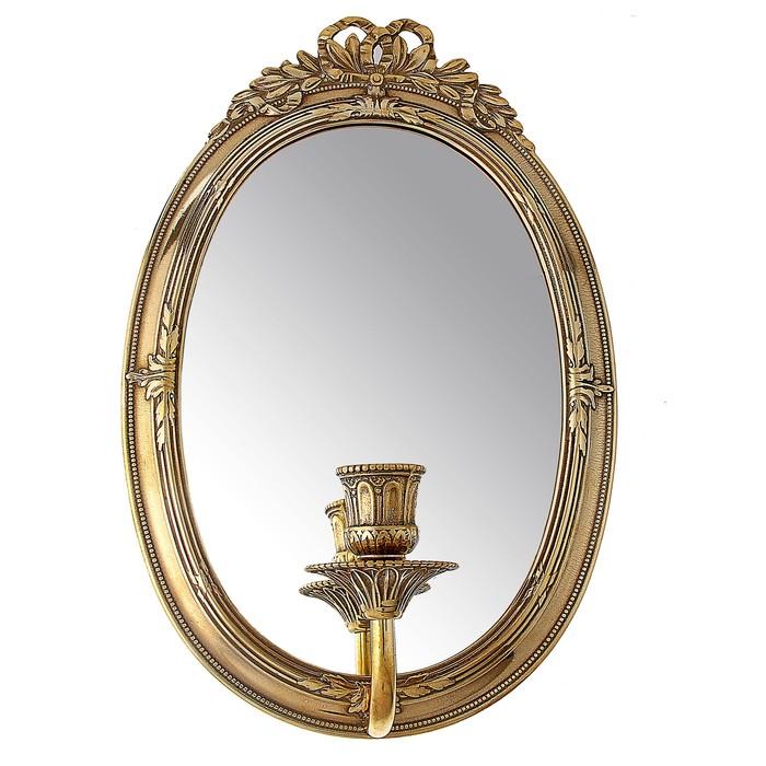 """Зеркало настенное """"Возрождение"""" с подсвечником"""