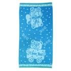 """Полотенце махровое банное Клинелли """"Мишка"""", размер 70х130см, 420 г/м2, цвет бирюзовый"""