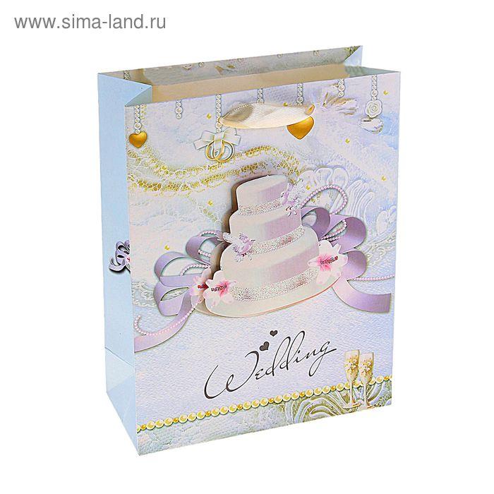 """Пакет ламинированный """"Свадебный торт"""""""