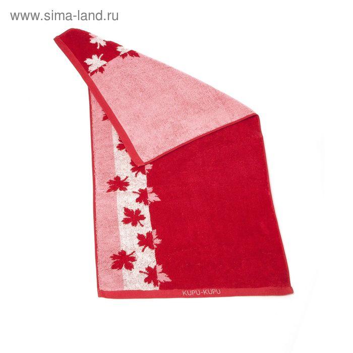 """Полотенце махровое Купу-Купу """"Канада"""", размер 45х90 см, 420 г/м2, цвет красный"""