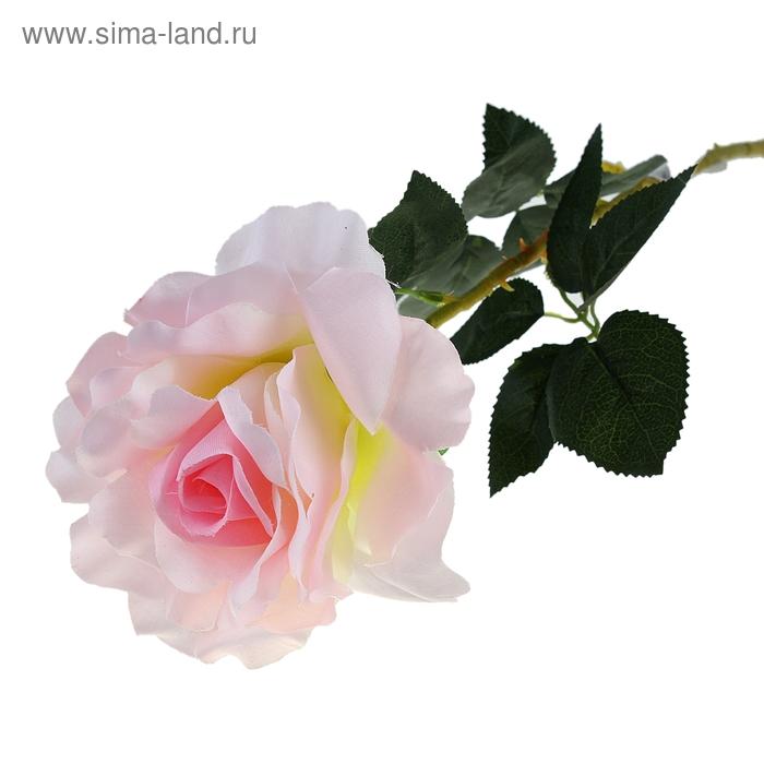 """Цветок искусственный """"Светло-розовая роза"""""""