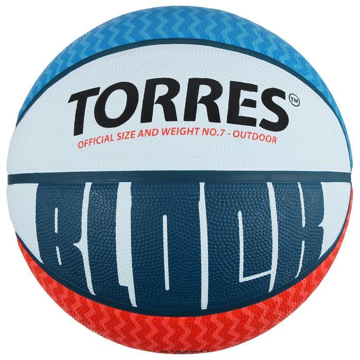 81e04133 Мяч баскетбольный Torres Block, B00077, размер 7