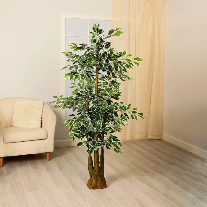 """Дерево искусственное """"Лист с белой каёмкой"""""""