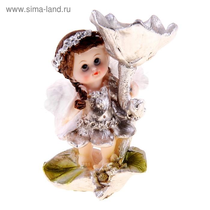 """Сувенир """"Ангелок в цветочном веночке"""", МИКС"""