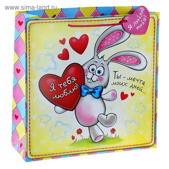 """Пакет подарочный """"Я тебя люблю"""""""