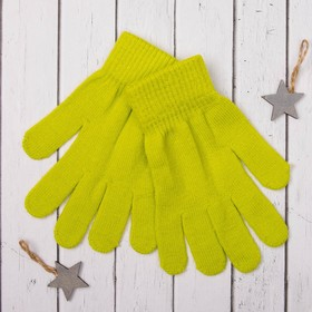 """Перчатки молодёжные """"Однотонные"""", размер 19, цвет зелёный"""