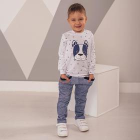 Штанишки для мальчика, цвет тёмно-синий джинс, рост 86 см