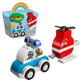 Конструктор Lego DUPLO «Пожарный вертолет и полицейский автомобиль»