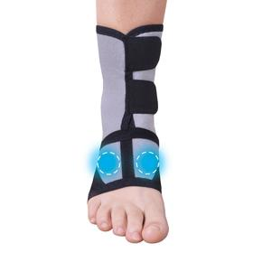 Bandage for the ankle joint with a biomagnetic medical applicator -