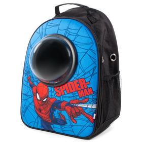 """Рюкзак для переноски животных с иллюминатором Triol Marvel """"Человек-паук"""", 45 х 32 х 23 см"""