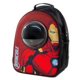 """Рюкзак для переноски животных с иллюминатором Triol Marvel """"Железный человек"""", 45х32х23 см"""