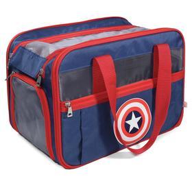 "Сумка для переноски животных Triol Marvel ""Капитан Америка"", 40 х 28 х 25 см"