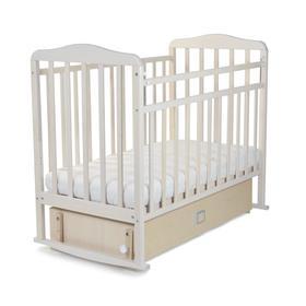 Кровать детская Митенька с маятником и ящиком (опуск.планка, качалка, закр.ящик, попер.маятник)
