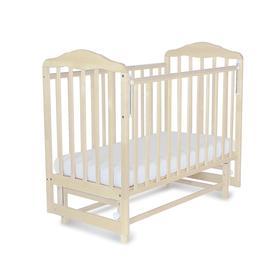 Кровать детская Березка с маятником (автостенка,накладка ПВХ, береза снежная)