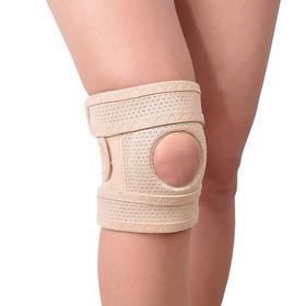 "Бандаж для коленного сустава - ""Крейт"" (№1, бежевый) F-514, обхват колена 33-35 см"