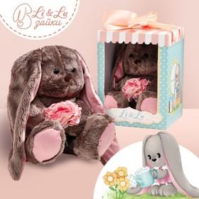 Мягкая игрушка «Li с розовыми цветами»