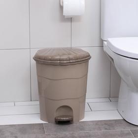 Ведро для мусора Виолет, 18 л, с педалью, цвет латте-капучино