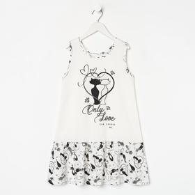 Сорочка для девочки «Анфиса», цвет молочный, рост 104 см