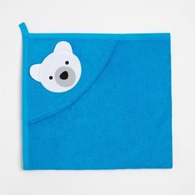 Уголок детский А.*045M-0/1 цвет голубой/мишка, махра, хл100 (0-3 мес.)