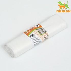 Пакеты для кошачьих лотков Пижон, 45х30х30см, ПНД, 15мкм, белые, 10шт