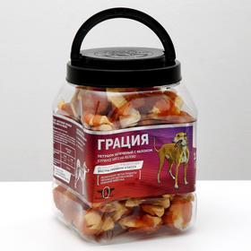 "Лакомства Green Quzin ""Грация"" сушеное куриное мясо на яблоке, 600 г"