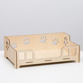 Кроватка-лежанка, для маленьких пород собак и кошек, 47,7 х 29,7 х 16,2 см
