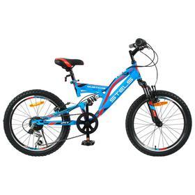 "Велосипед 20"" Stels Mustang V, V010, цвет синий, размер 13"""