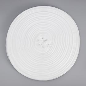 Лента ременная, 20 мм, 50 м, цвет белый
