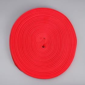 Лента ременная, 20 мм, 50 м, цвет красный