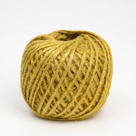 Шпагат джутовый, 1120 Текс, 50 м, цвет жёлтый