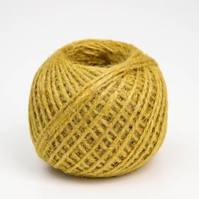 Шпагат джутовый, 1120 Текс, 100 м, цвет жёлтый