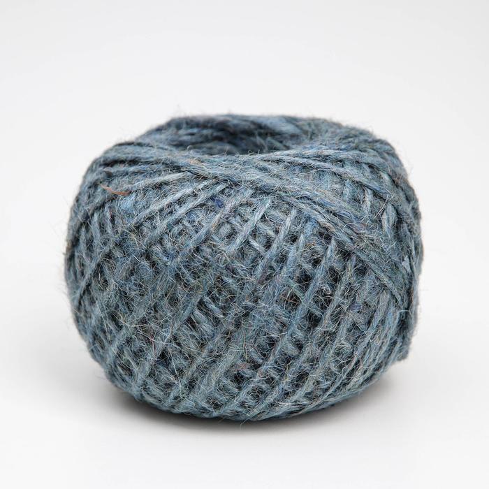 Шпагат джутовый, 1120 Текс, 100 м, цвет синий - фото 1297288