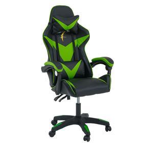 Кресло игровое SL™ DRAGON YS-900, чёрно-зелёное