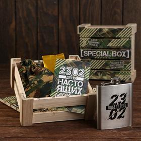 Подарочный набор «23,02»: фляга 210 мл, чай 25 г..