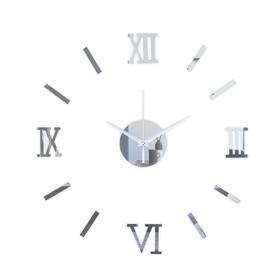 """Часы-наклейка """"Давис"""", d= 45 см, сек. стрелка 12 см, серебро"""