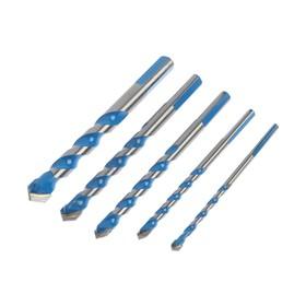 Набор универсальных сверл TUNDRA, твердосплавный наконечник, 5-6-8-10-12 мм, 5 шт.