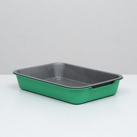 Туалет средний с сеткой, 36 х 26 х 6,5 см, серый/ярко-зелёный