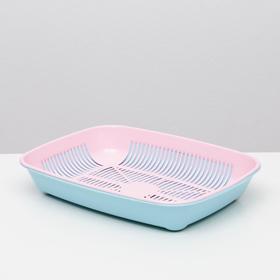 Туалет округлый с сеткой 33,5 х 25 х 6 см, розовый/голубой
