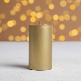 Свеча интерьерная «Магия золота», 6 х 10 см
