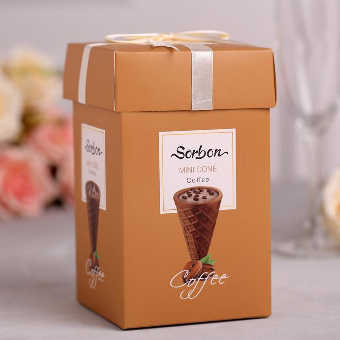 Мини-рожок в коробочке Sorbon «Кофе и воздушные зерна», 200 г - фото 3162857
